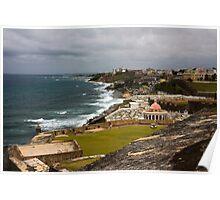 Puerto Rico Coastline 2 Poster
