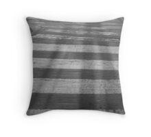 Shadows and stripes Throw Pillow