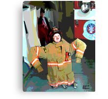 Wanna Be A Fireman Metal Print