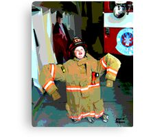 Wanna Be A Fireman Canvas Print