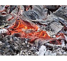 Smouldering wood Photographic Print
