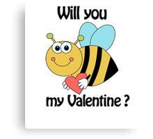 bee my Valentine Canvas Print