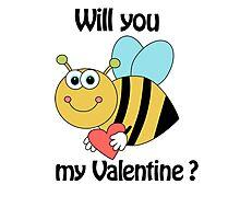 bee my Valentine Photographic Print