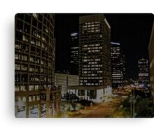 Downtown Phoenix Lights With Blinds Canvas Print