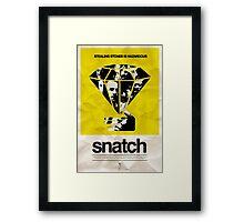 snatch minimalist poster Framed Print