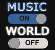 Music : ON,  World : OFF Kids Clothes