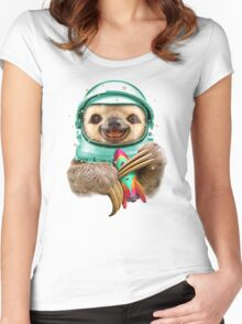 SPACESLOTH Women's Fitted Scoop T-Shirt