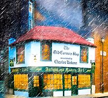 A London Rain On The Old Curiosity Shop by Mark Tisdale