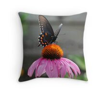 Posed Butterfly Throw Pillow