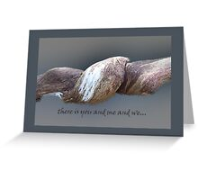 in us.... Greeting Card