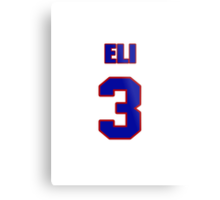 National baseball player Eli Hodkey jersey 3 Metal Print