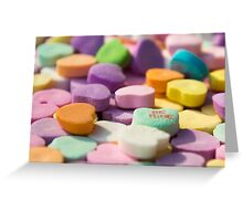 Candy Hearts - Be Mine! Greeting Card