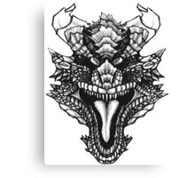 Face the Dragon Canvas Print