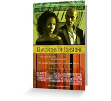 13 Months of Sunshine Movie Poster Greeting Card