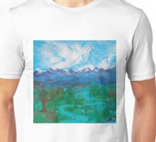 Spring Day in a mountain Valley Unisex T-Shirt