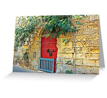 Red Door Blue Gate Greeting Card