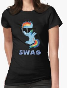 swag glass eyes scoop Womens Fitted T-Shirt