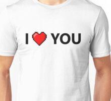 I LOVE YOU - Geek - 8 Bit Heart Unisex T-Shirt