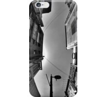 Looking Up In Fisheye (B&W) iPhone Case/Skin