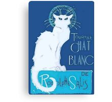Le Chat Blanc Canvas Print