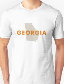 Georgia - Red Unisex T-Shirt