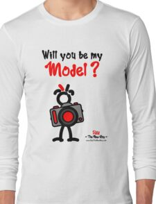 Red - The New Guy - Will you be my Model ? Long Sleeve T-Shirt