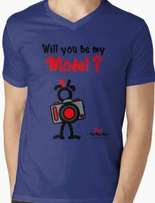 Red - The New Guy - Will you be my Model ? Mens V-Neck T-Shirt