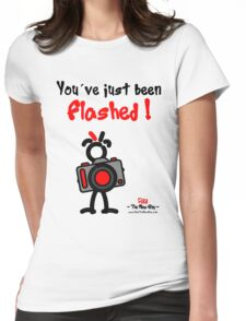 Red - The New Guy - You've just been Flashed ! Womens Fitted T-Shirt