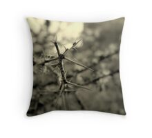 He Wore a Thorny Crown Throw Pillow