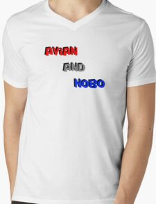 Avian And Hobo Mens V-Neck T-Shirt