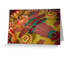 Pinball Greeting Card