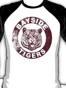 Bayside Tigers (Mascot Emblem - Distressed)  T-Shirt
