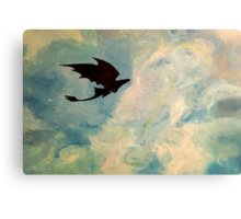Toothless in the Sky Canvas Print