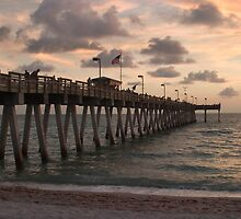 Sharkies Pier at sunset by Zeena