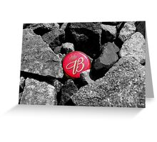 King of Stones Greeting Card