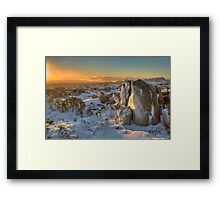 Frozen Plateau of Mount Wellington Framed Print