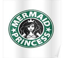 Ariel Disney starbucks princess tee Poster