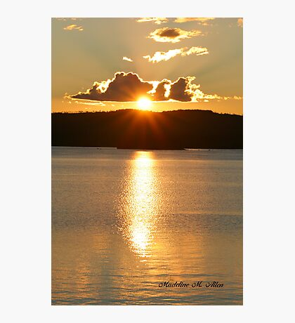 SUNSET OVER JOE GLOBE LAKE Photographic Print