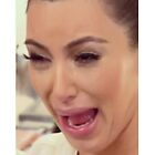 Kim Kardashian cry face by supornah