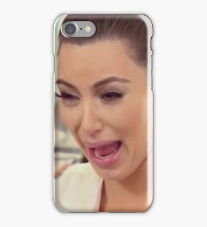 Kim Kardashian cry face iPhone Case/Skin