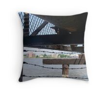 Behind the levee Throw Pillow