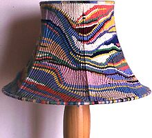 Free-form Cavandoli Macrame Lamp by Keith Russell