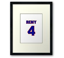 National baseball player Remy Hermoso jersey 4 Framed Print