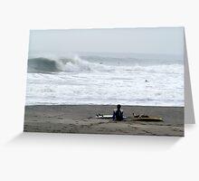 Japan surf check Greeting Card