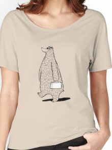 Mr. Bear Goes to Work Women's Relaxed Fit T-Shirt