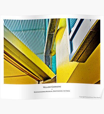 Yellow Corners Poster