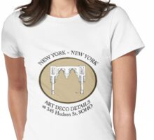 NYC building details 3 - SOHO Art Deco Womens Fitted T-Shirt