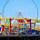 santa monica pier ferris wheel by Gowri Gilbertson