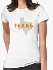 Texas - Red Womens Fitted T-Shirt