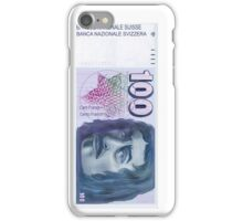 100 Old Swiss Francs Note  iPhone Case/Skin